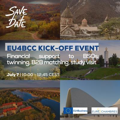 EU4BCC website EU4BCC Kick-off event Financial support to BSOs twinning, B2B matching, study visits